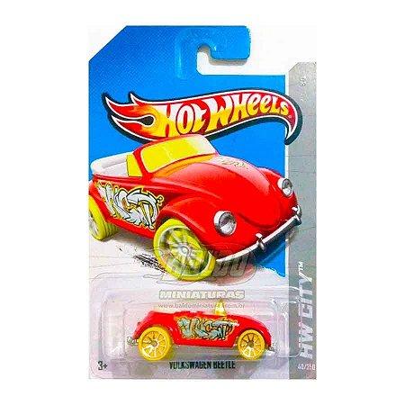 Hot Wheels - Volkswagen Beetle - Vermelho - Fusca