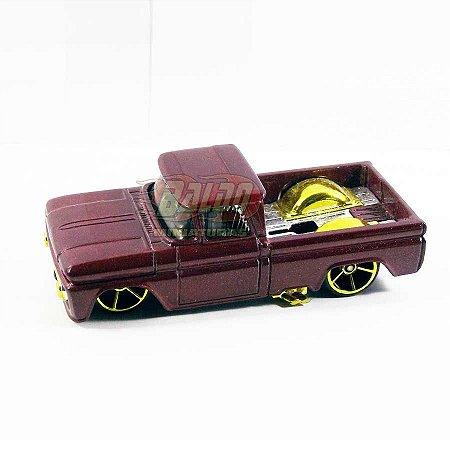 Hot Wheels - Custom 62 Chevy - Pickup Vinho - Sem cartela (loose) (Customizada)