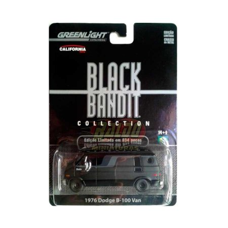 Greenlight - Black Bandit - 1976 Dodge B-100 Van