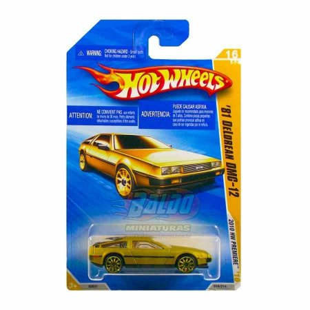 Hot Wheels - 81 Delorean DMC - 12 - Dourado - rodas SP10-  De volta para o futuro