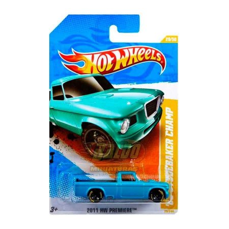 Hot Wheels - 63 Studerbaker Champ (Pickup Azul)