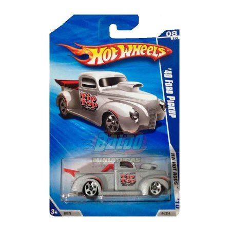 Hot Wheels - Pickup 40 Ford (Pickup Prata)
