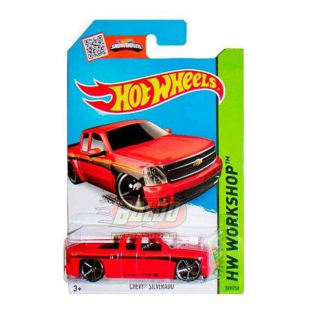 Hot Wheels - Chevy Silverado (Pickup Vermelha)