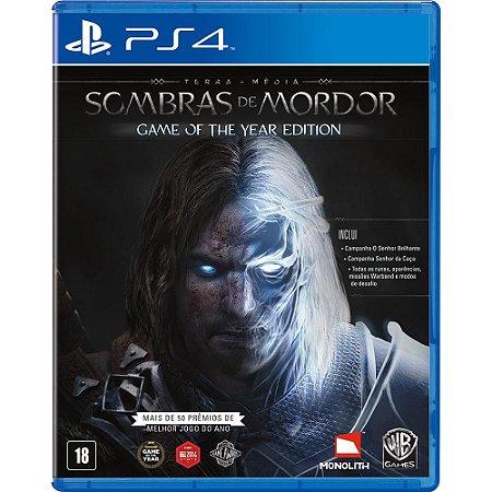 PS4 - Terra-Média - Sombras de Mordor GOTY