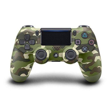 PS4 - Controle Sem Fio Dualshock 4 - Camuflado Verde
