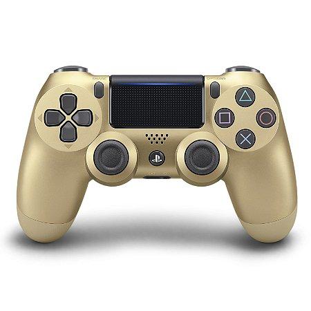 PS4 - Controle Sem Fio Dualshock 4 - Dourado
