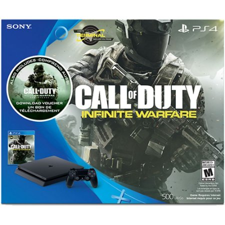 PS4 - Console Playstation 4 Slim 500 GB + Call Of Duty Infinite Warfare