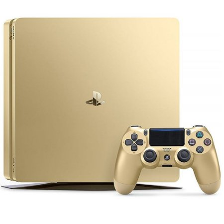 PS4 - Console Playstation 4 Slim Dourado 1T