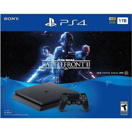 PS4 - Console Playstation 4 Slim 1T: Star Wars Battlefront II - Edição Limitada