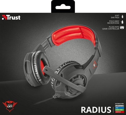Headset Trust GXT 310 Radius Gaming Headset para PC/PS4/XboxOne/Switch