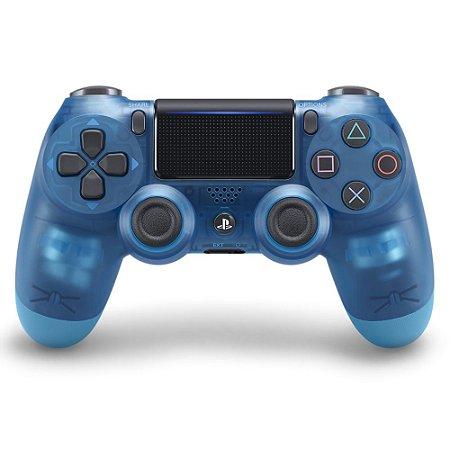PS4 - Controle Sem Fio Dualshock 4 - Azul Cristal