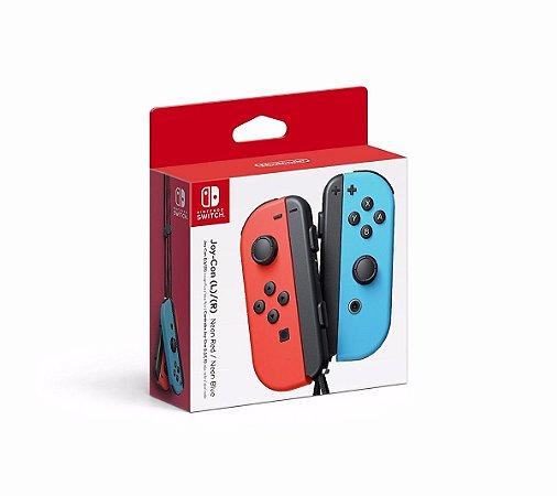 Switch - Joy-Con Esquerdo/Direito - Neon Azul / Neon Vermelho
