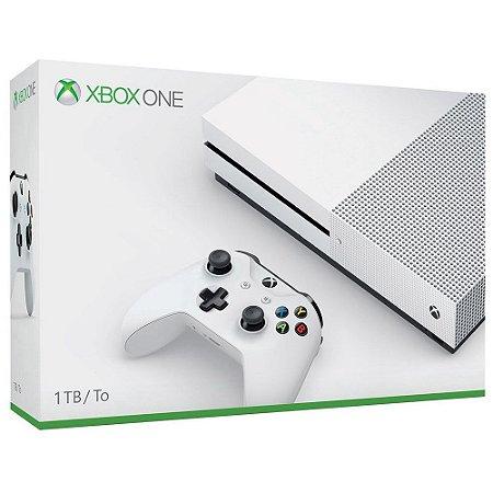 XboxOne - Console Xbox One S 1Tb - Branco