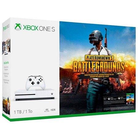 XboxOne - Console Xbox One S 1Tb + PUBG - Branco