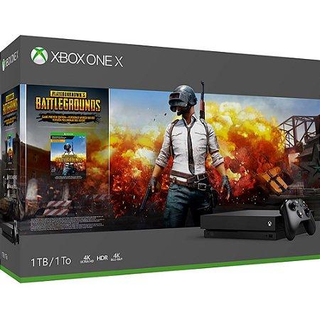 XboxOne - Console Xbox One X 4K 1Tb + PUBG - Preto