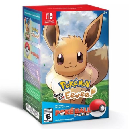 Switch - Pokémon Let's Go Eevee! + Poké Ball Plus