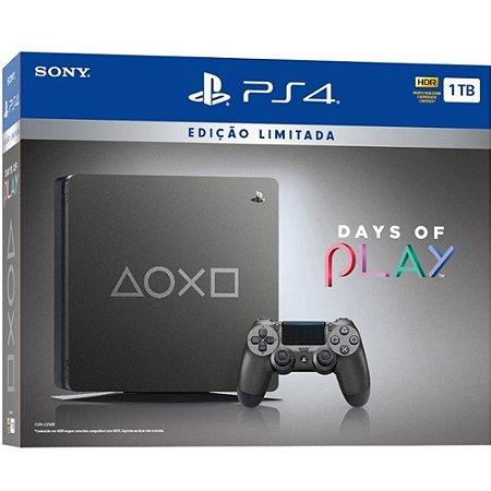 PS4 - Console Playstation 4 Slim 1 TB - Edição Limitada (Days of Play)