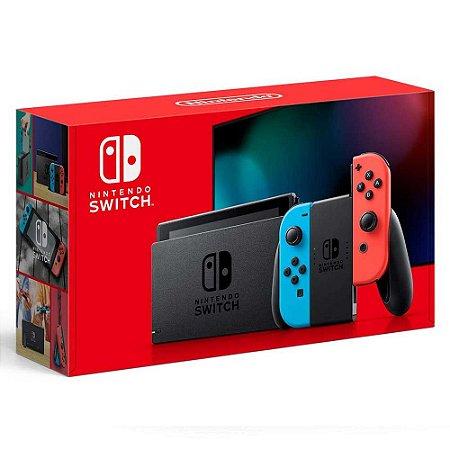 Switch - Console New Nintendo Switch Vermelho e Azul