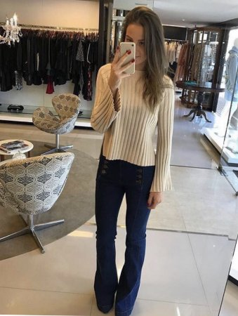 TRICOT MODAL  ISABELLA BEGE