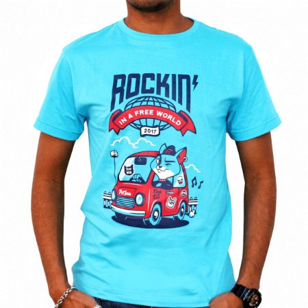 Camiseta masculina Rockin' in a free World