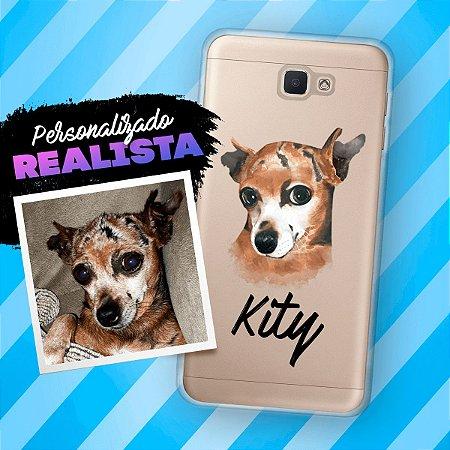 Capa de celular com personalização realista