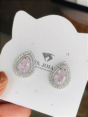 Brinco Gota Light Pink RB