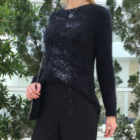 Blusa Tricot Soft Comphy All Black