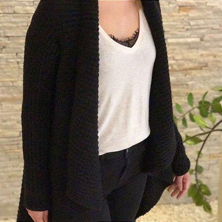 Casaco Tricot Médio Comphy All Black