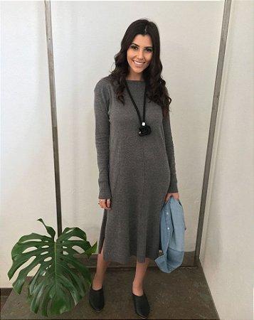 Vestido Tricot Grey Comphy