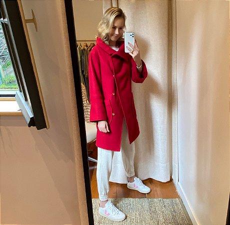 Casaco Lã Comphy Vermelho Flora