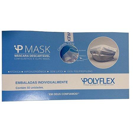 Máscara Descartável Tripla - POLYFLEX
