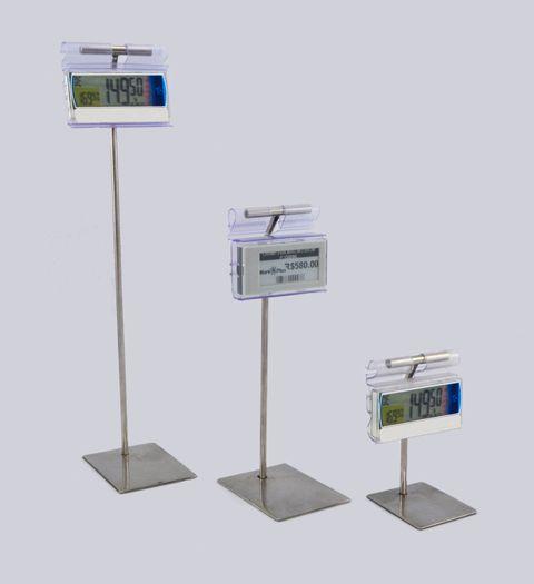 Pedestal Inox para Etiqueta Eletrônica