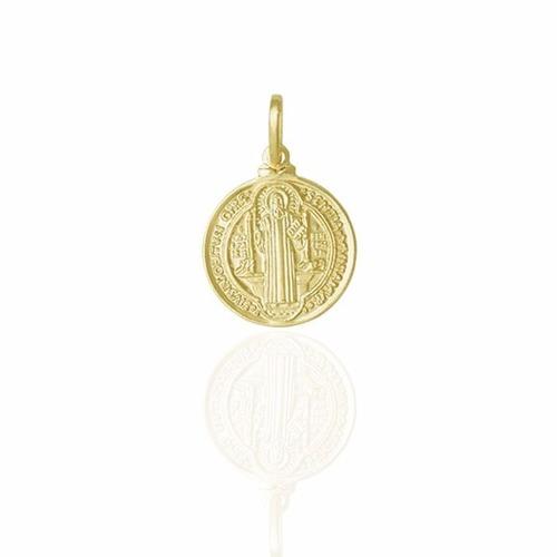 560de4e9fd45a Pingente Católico Medalha De São Bento Folheado A Ouro 18k - MILENA ...