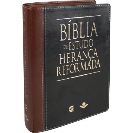 BÍBLIA DE ESTUDO HERANÇA REFORMADA - PRETO/MARROM