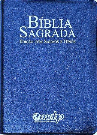 BÍBLIA SALMOS E HINOS MÉDIA - AZUL