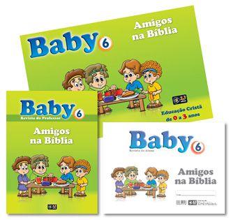 KIT BABY 6 AMIGOS NA BÍBLIA