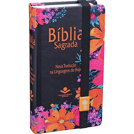 BÍBLIA NTLH COM ELÁSTICO - FLORES