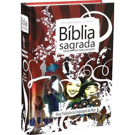 BÍBLIA NTLH C/ NOTAS P/ JOVENS - VERMELHA