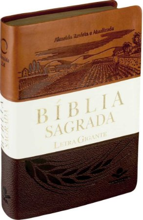 BÍBLIA GIGANTE MARROM/BRANCO