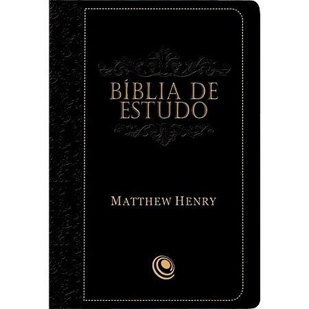 BÍBLIA DE ESTUDO MATTHEW HENRY - PRETA