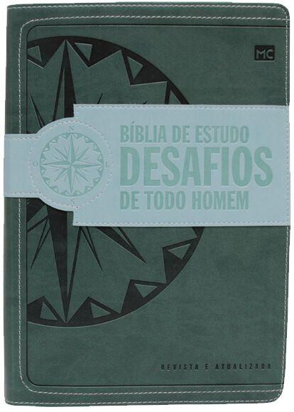 BÍBLIA DE ESTUDO DESAFIOS DE TODO HOMEM - VERDE