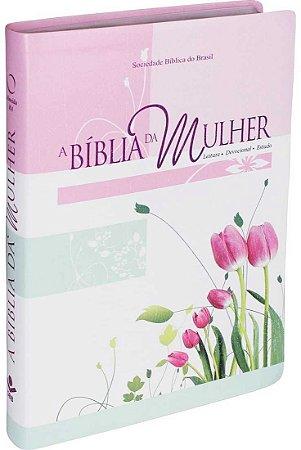 BÍBLIA DA MULHER GRANDE - TULIPA NOVA