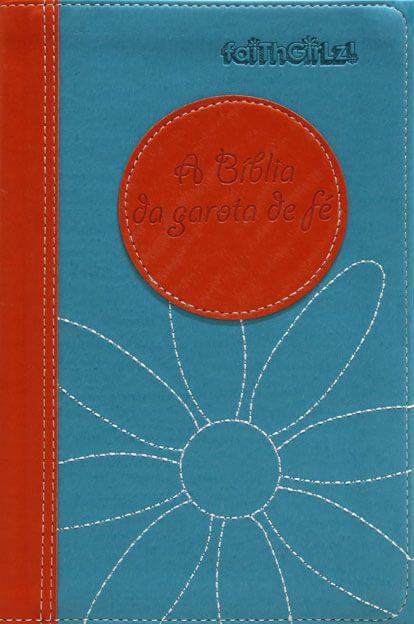 BÍBLIA DA GAROTA DE FÉ - LARANJA/AZUL