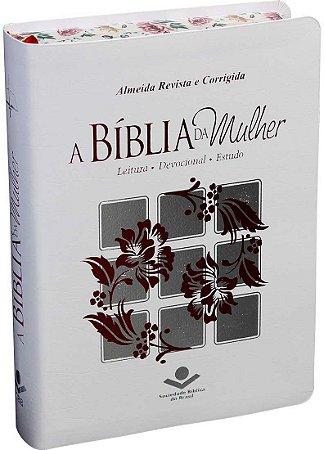 BÍBLIA DA MULHER RC - BRANCA FLORIDA