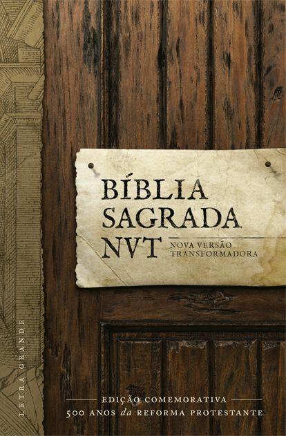 BÍBLIA NVT LETRA GRANDE CAPA DURA REFORMA