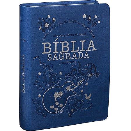 BÍBLIA NTLH LETRA GRANDE - AZUL