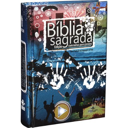 BÍBLIA NTLH C/ NOTAS P/ JOVENS CAPA DURA AZUL