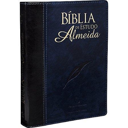 BÍBLIA DE ESTUDO ALMEIDA - PRETA/AZUL