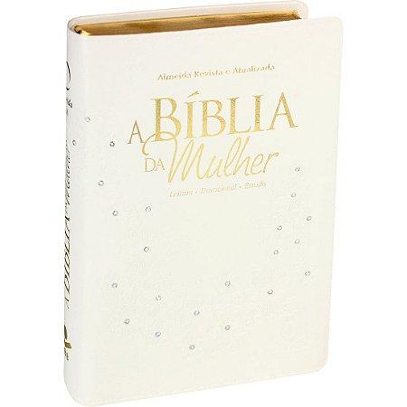 A BÍBLIA DA MULHER MÉDIA BRANCA FLOR