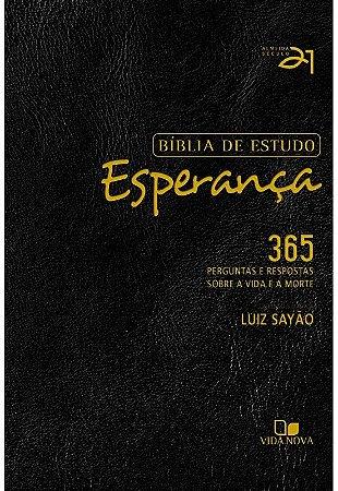 BÍBLIA DE ESTUDO ESPERANÇA - PRETA